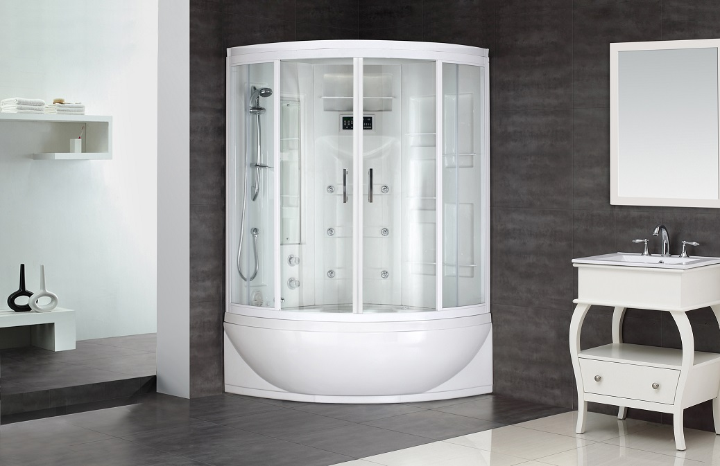 Aston Steam Shower W/ Whirlpool Bath ZAA208 R/L 59.4x36.