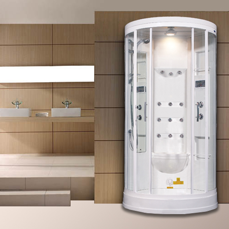 Aston Compact Steam Shower With 12 Body Jets in White ZA218 - 40x40x85