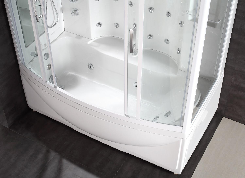 Aston steam shower whirlpool bath combo zaa210 l r for 6 tub shower combo