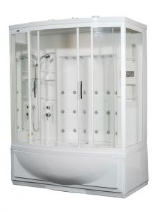 Aston Steam Shower & Whirlpool Bath Combo ZAA210 L/R  68x41x86.6