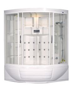 Aston Corner Steam Shower with Whirlpool Bathtub ZAA216  56 x 56 x 87