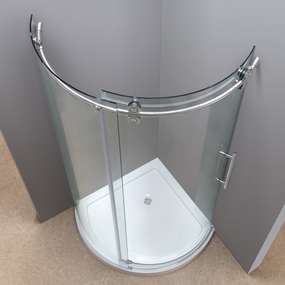 Orbitus Completely Frameless Round Shower Enclosure With Base