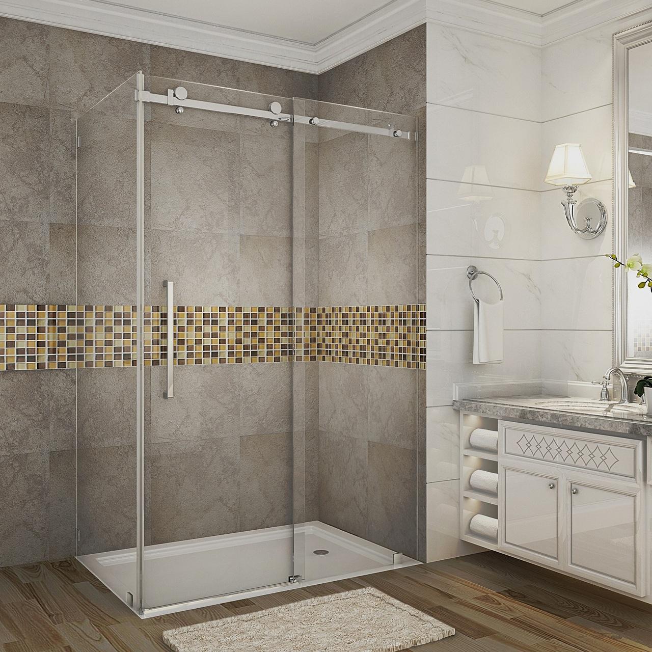 Moselle Completely Frameless Sliding Shower Door Enclosure