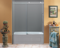 Moselle  Completely Frameless Tub Sliding Shower Door-TDR976